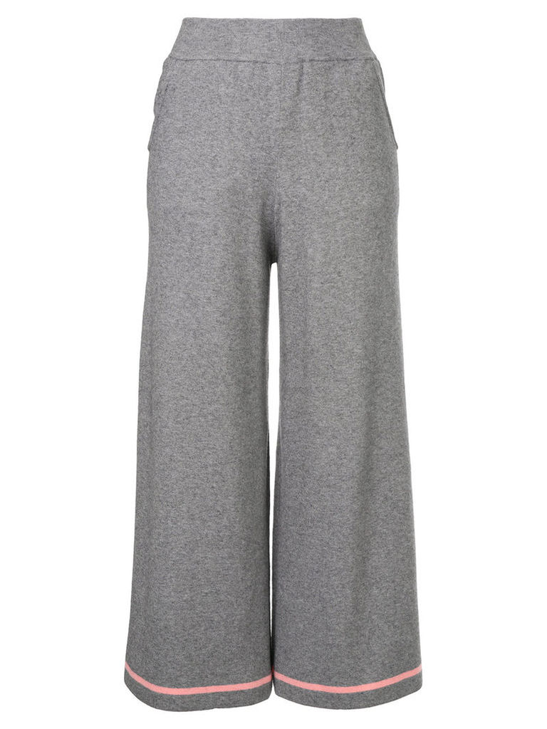 Guild Prime cropped wide leg trousers - Grey