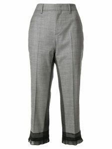Prada sheer panel cropped trousers - Grey