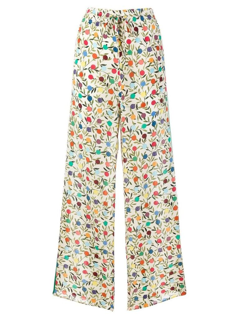 Red Valentino flared printed trousers - Nude & Neutrals