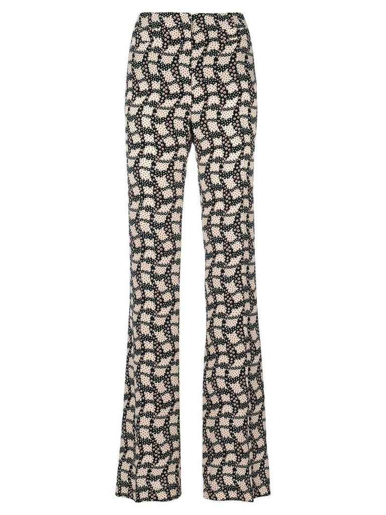 Prada printed high-waisted trousers - Black