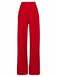 Michael Lo Sordo high waist wide leg trousers - Red