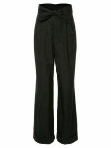 Alexander Wang Poplin Pleat Front trousers - Black