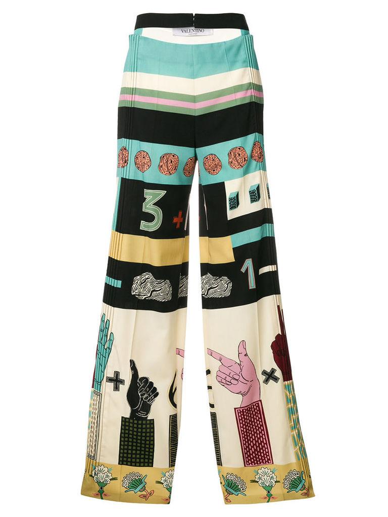 Valentino graphic print trousers - Multicolour