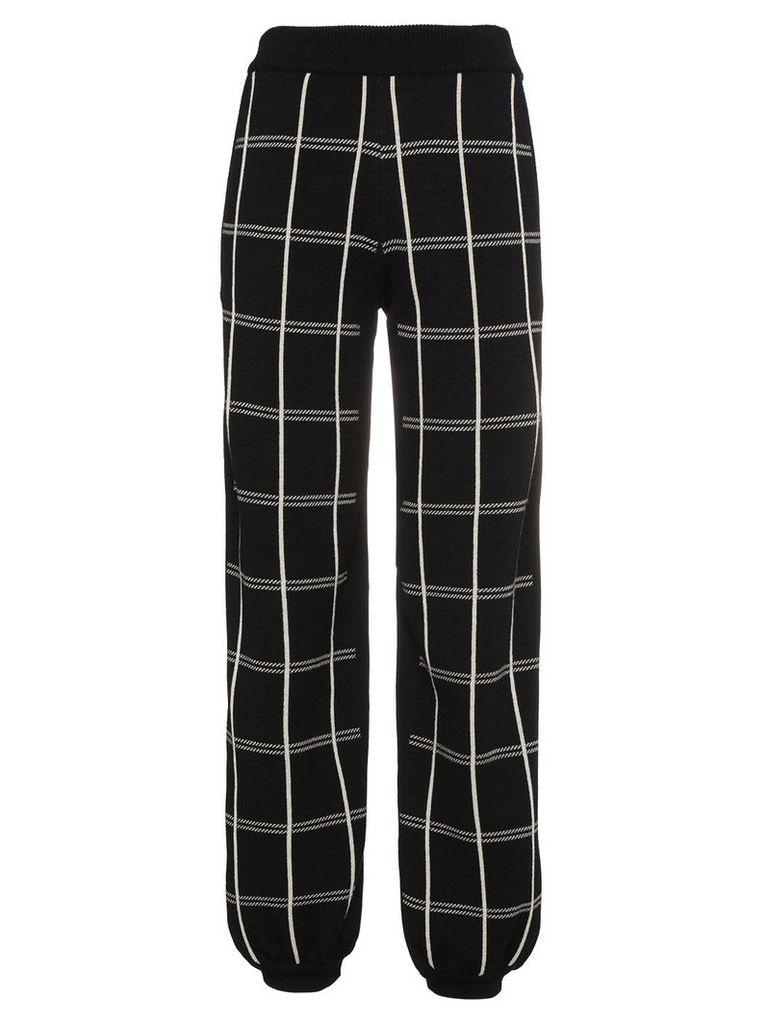 Chloé crepe check track trousers - Black