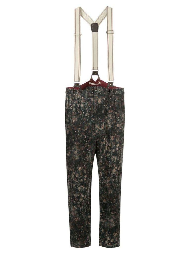 Aleksandr Manamïs tapered trousers with braces - Multicolour