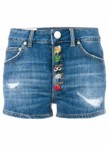Dondup decorative buttoned shorts - Blue