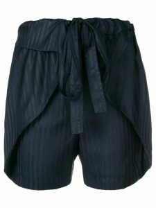 Stella McCartney striped silk shorts - Blue
