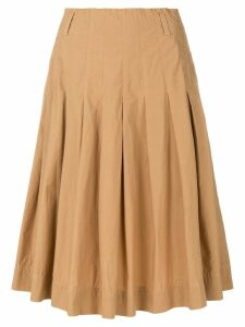 Forte Forte flared midi skirt - NEUTRALS