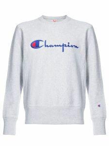 Champion logo jersey sweater - Grey