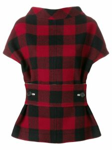 Marni structural checked blouse - Red