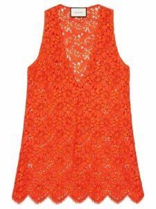 Gucci Flower lace sleeveless top - ORANGE