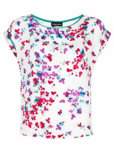 Emporio Armani floral watercolour print blouse - White