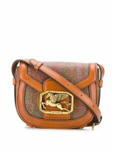 Etro Pegaso Paisley cross body bag - Brown