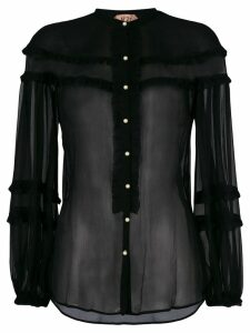 Nº21 sheer blouse - Black