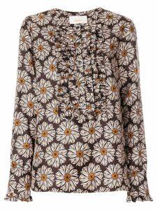La Doublej Girasoli tuxedo shirt - Brown