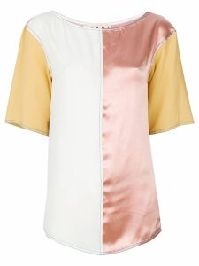 Marni colour blocked blouse - Pink