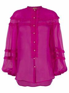 Nº21 sheer frill blouse - Pink