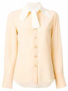 Chloé contrast collar blouse - NEUTRALS