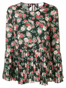 P.A.R.O.S.H. floral pleated blouse - Black