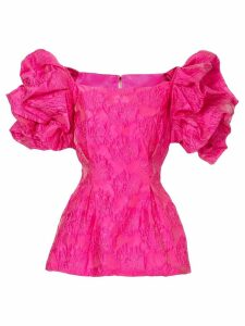 Bambah ruffled tunic blouse - Pink