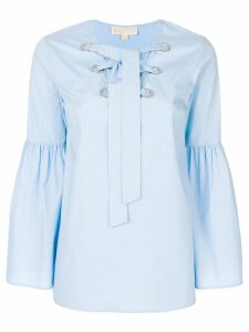 Michael Michael Kors tie-neck blouse - Blue