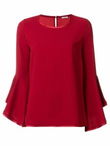 P.A.R.O.S.H. fluted sleeve top - Red