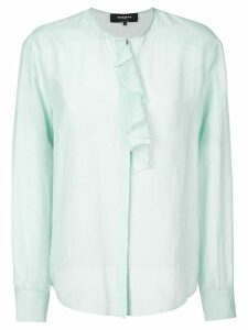 Rochas ruffle trim blouse - Blue