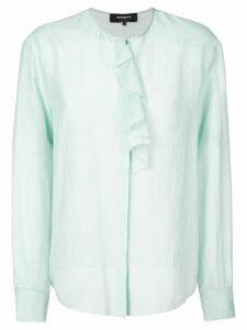 Rochas ruffle trim blouse - Blue