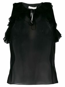 Three Floor Indianna frill top - Black