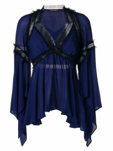 Plein Sud asymmetrical blouse - Blue