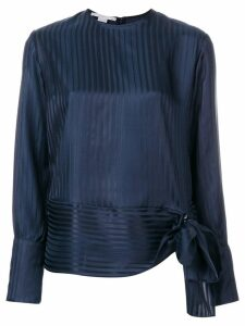 Stella McCartney striped tie front blouse - Blue