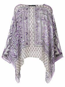 Alberta Ferretti printed draped blouse - Pink