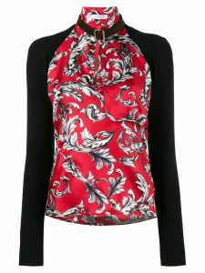 JW Anderson high neck filigree print top - Red