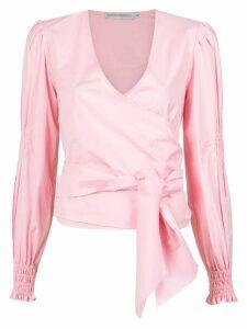 Martha Medeiros Kenia wrap style shirt - PINK