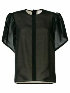 Victoria Beckham draped-sleeve top - Black