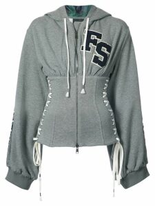 Puma corset zipped hoodie - Grey