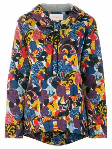 La Doublej all over print hoodie - Blue