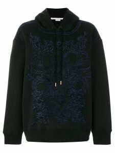 Stella McCartney embroidered hoodie - Black