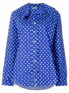 Marni scribble pattern blouse - Blue