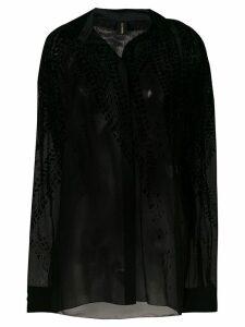 Alexandre Vauthier velvet detail shirt - Black
