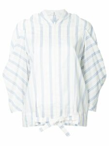 Nehera stripe draped top - White