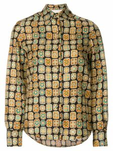 La Doublej Piastrelle boy shirt - Brown