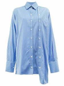 Rokh asymmetric striped shirt - Blue