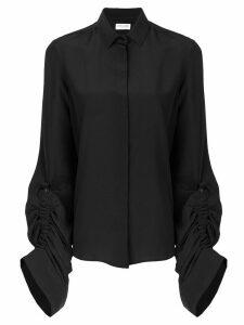 Saint Laurent oversized sliding sleeves shirt - Black