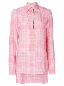 Victoria Beckham checked shirt - PINK