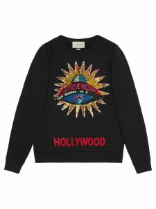Gucci UFO embroidered sweatshirt - Black