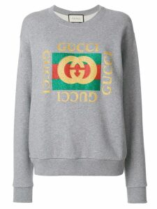Gucci Gucci logo sweatshirt - Grey