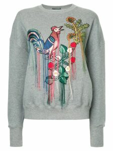 ALEXANDER MCQUEEN embroidered sweatshirt - Grey
