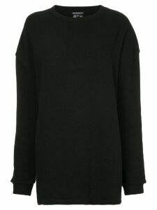 Ann Demeulemeester Dominic sheer detail sweatshirt - Black