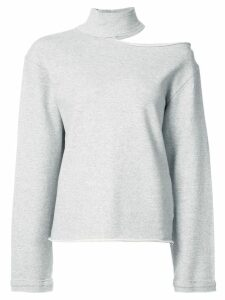 RtA cut-out detail sweatshirt - Grey
